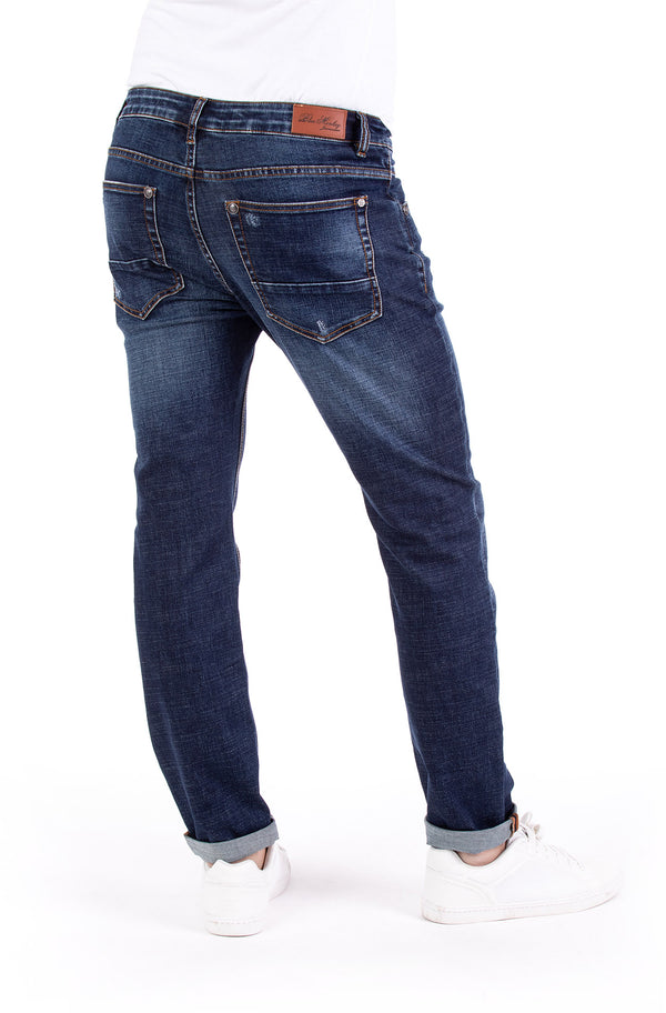Blue Monkey Men Alex 4645 Blue Denim Slim Fit Jeans