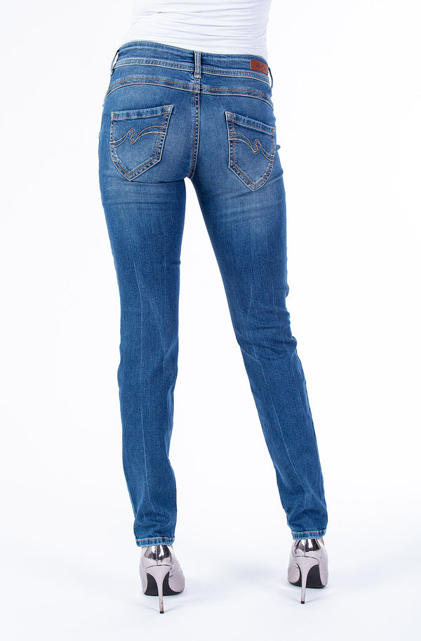 Blue Monkey Women Laura 0001 Blue Denim Skinny Jeans