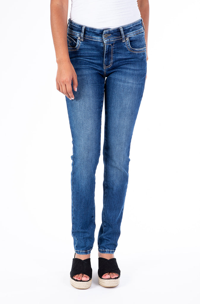 Blue Monkey Women Laura 0002 Blue Denim Skinny Jeans