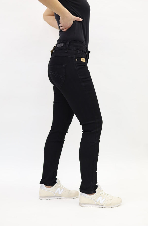 Blue Monkey Women Laura 0004 Black Denim Skinny Fit Jeans