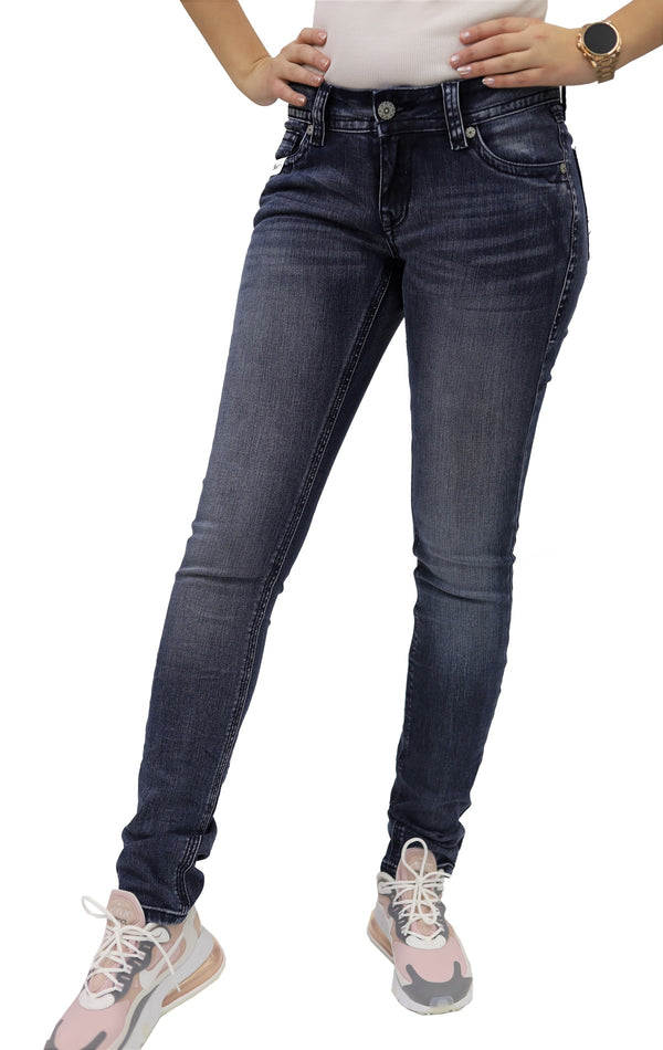 Blue Monkey Women Luna 3727 Blue Denim Skinny Jeans