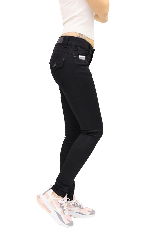 Blue Monkey Women Paige 3802 Black Denim Skinny Jeans