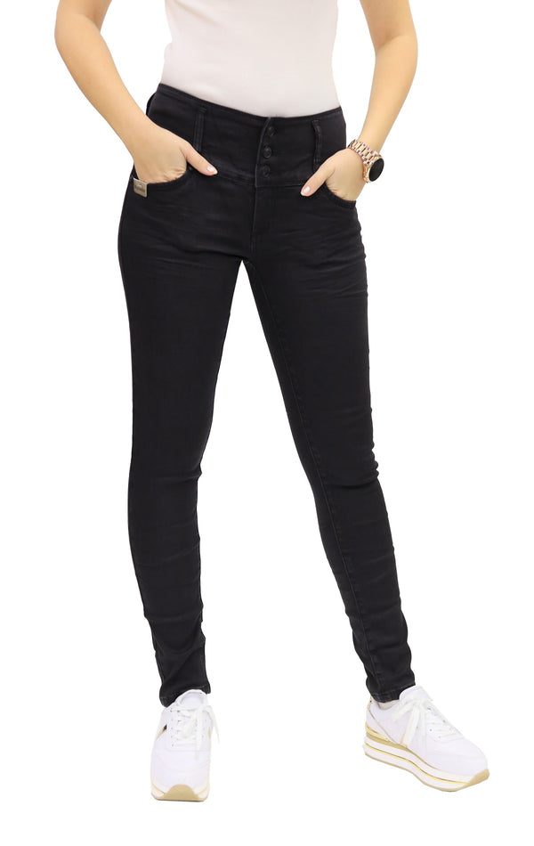 Blue Monkey Women Silke 3948 Highwaist Jeans