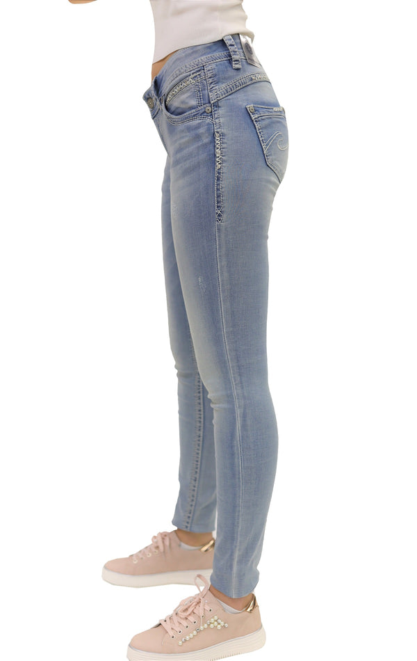 Blue Monkey Women Stacy 30027 Blue Denim Skinny Jeans