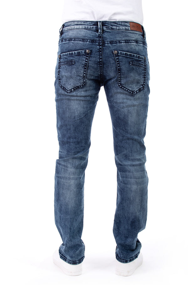 Blue Monkey Men Freddy 4587 Blue Denim Slim Fit Jeans