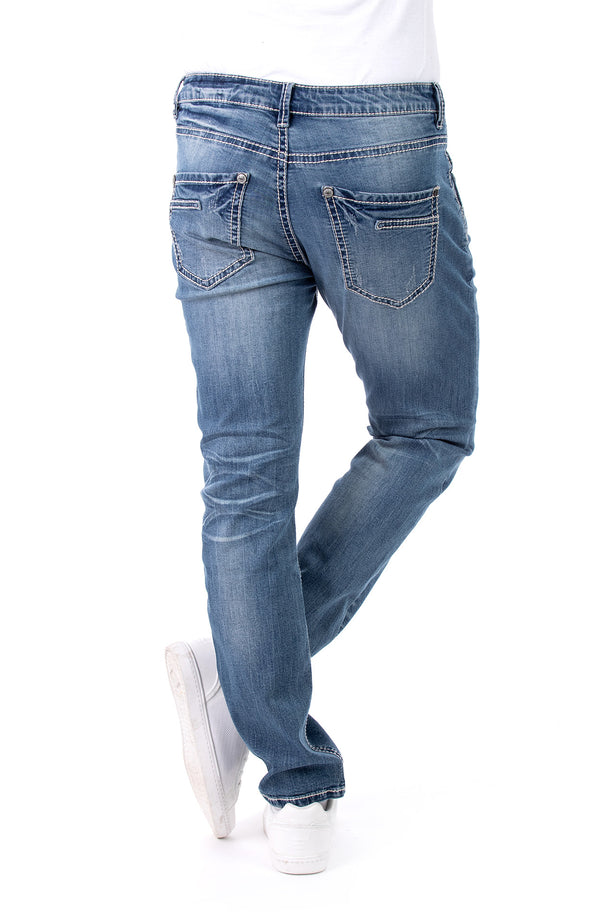 Blue Monkey Men Freddy 4588 Blue Denim Slim Fit Jeans