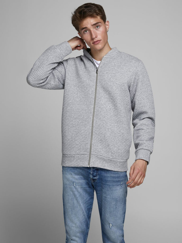 Jack & Jones Structure Sweat Baseballkragen Strickjacke