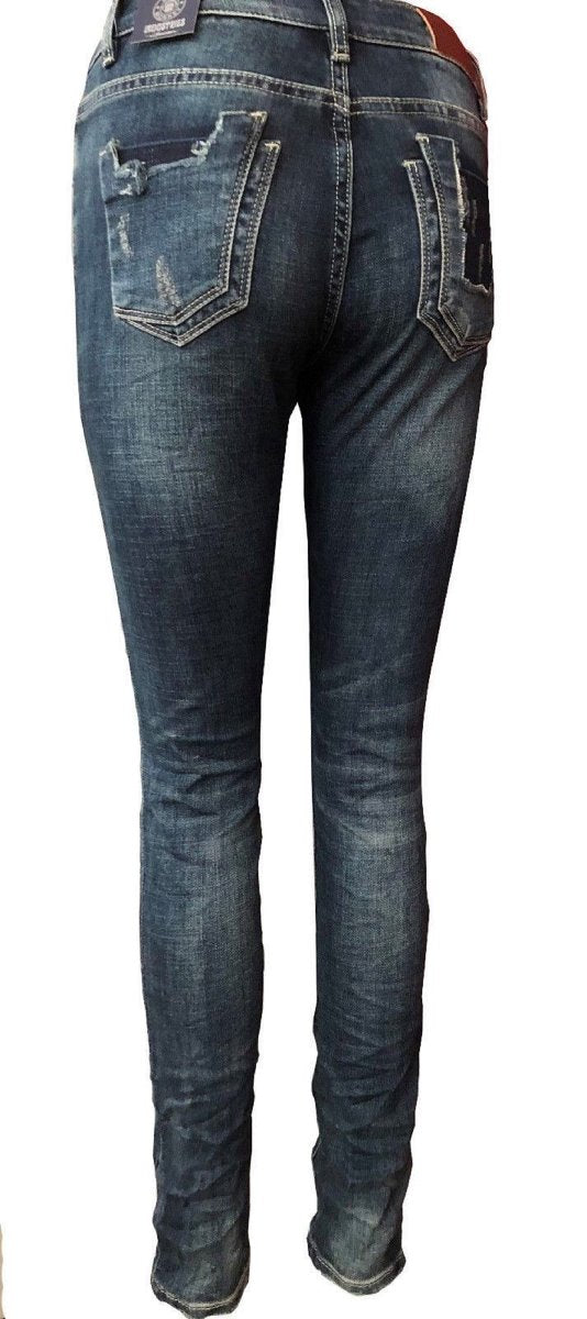 Blue Monkey Women Honey 1622 Blue Denim Skinny Jeans