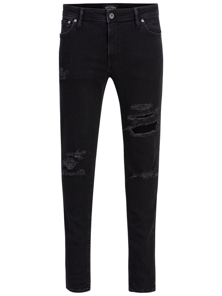Jack & Jones Intelligence Liam Original 502 Black Denim Skinny Fit Jeans