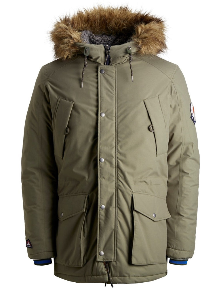 Jack & Jones Original Explore Limited Parka Winterjacke mit Kapuzenfell