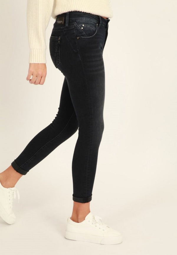 Mavi Damen Lexy Ink Glam Super Skinny Push-Up Jeans