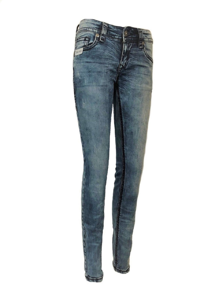 Blue Monkey Women Luna 3936 Blue Denim Luxury Jeans