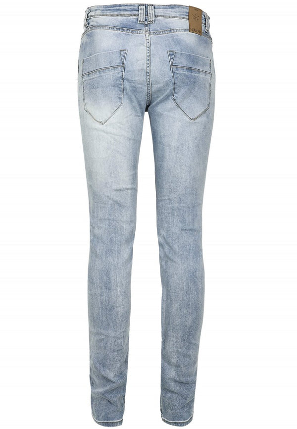 Sublevel Herren Light Blue Destroyed Skinny Jeans
