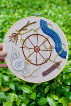 Load image into Gallery viewer, Wheel of Fortune Tarot Beading and Embroidery Hoop