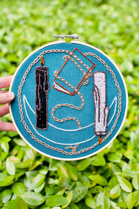 High Priestess Tarot Card Embroidery Hoop