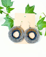 Load image into Gallery viewer, Beaded Circular Earrings