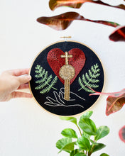 Load image into Gallery viewer, The Empress Tarot Card Embroidery Hoop