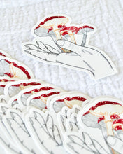 Load image into Gallery viewer, Embroidered Mushroom Print Sticker