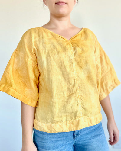 Plant Dyed Women's Short Sleeved Shirt