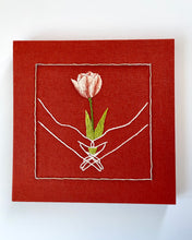 Load image into Gallery viewer, Embroidered Hands with Tulip