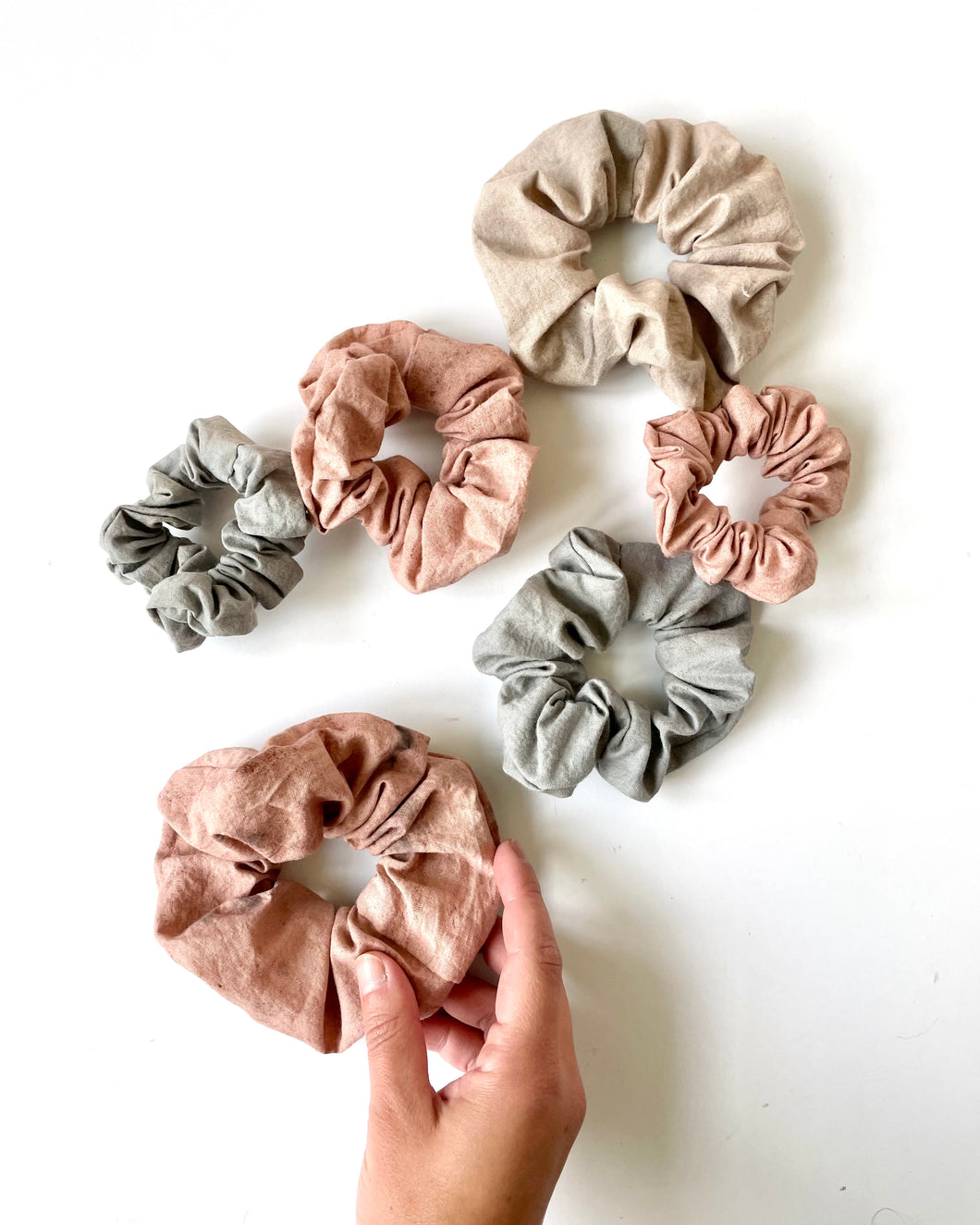 Experimental Plant Dyed Scrunchies