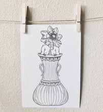 Load image into Gallery viewer, Anemone Flower Girl Illustration Print