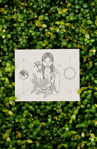 Nature Goddess Illustration Print