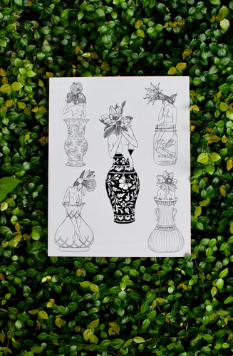 Flower Girl Collection Illustration Print