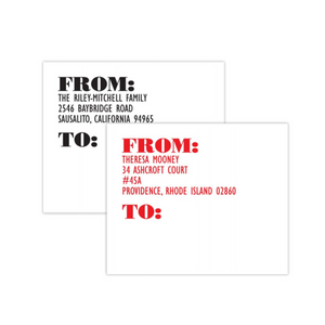"Custom X-Large Shipping Labels 5"" x 6"", 100 labels per pad"