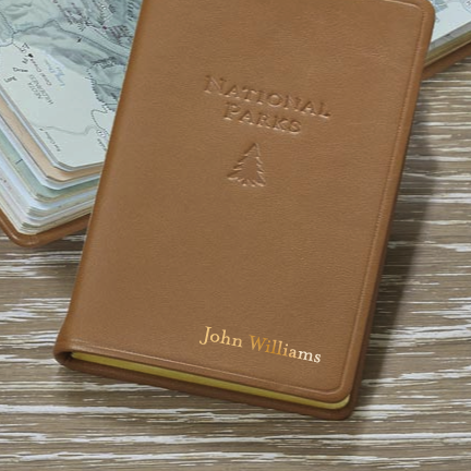National Parks Leather Guide Book & Journal