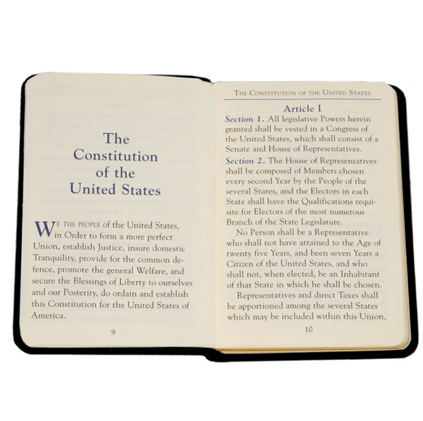 U.S. Constitution Pocket-sized Leather Book