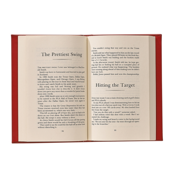 Harvey Penick's Little Red Leather Book – with Personalization