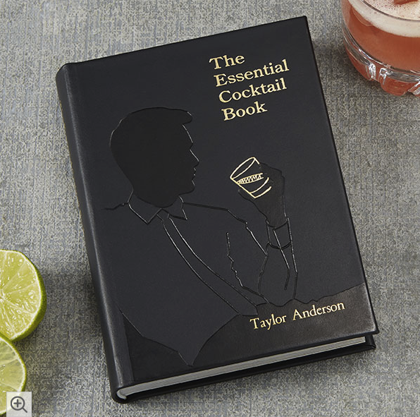 The Essential Cocktail Leather Book – with Personalization