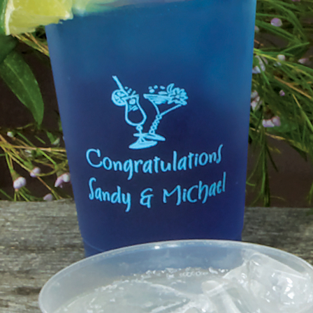 Personalized 10 oz. Party Tumblers, Set of 25
