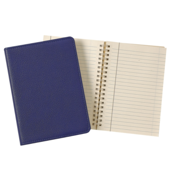 Refillable Goatskin Leather Notebook
