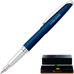 Cross ATX Fountain Pen, Translucent Blue Lacquer
