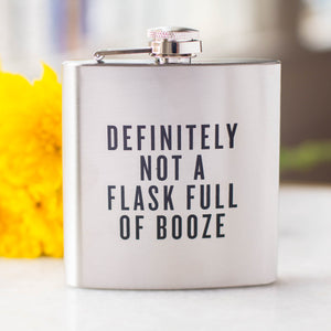 """Definitely Not A Flask Full Of Booze"" Flask"