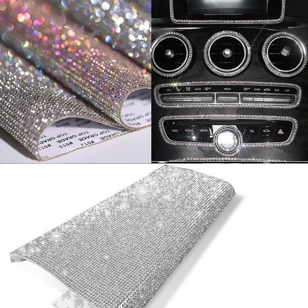 DIY Car Decoration Sticker Bling Crystal Rhinestone Car Stickers for Indoor Dashboard