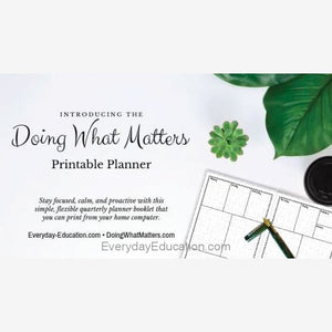 Doing What Matters Printable Planner - eBook