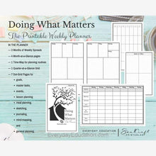Load image into Gallery viewer, Doing What Matters Printable Planner - eBook