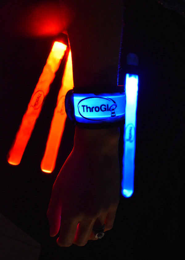 Team Color LED Light UP Wristbands - FREE SHIPPING