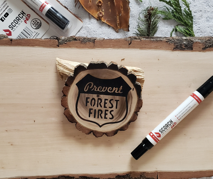 How to Wood Burn a Coaster with a Marker