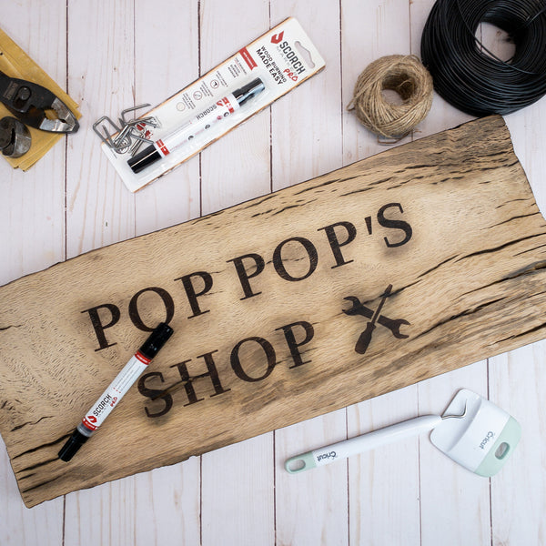 DIY Wood Burned Personalized Garage Sign