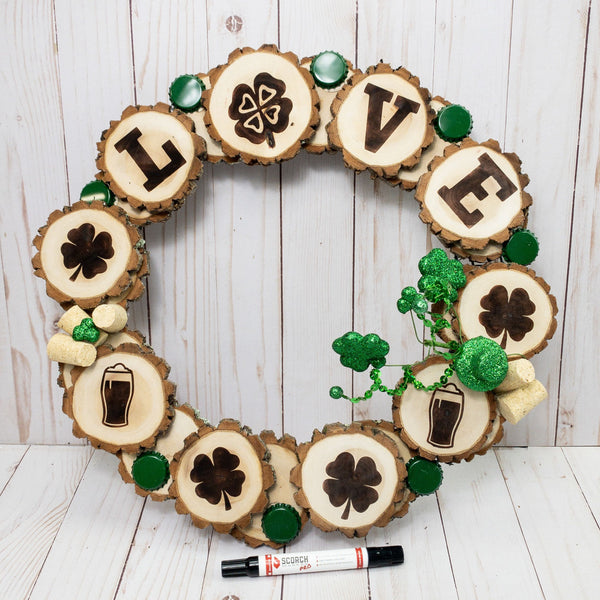 How to Craft a Wood-Burned St. Patrick's Day Wreath