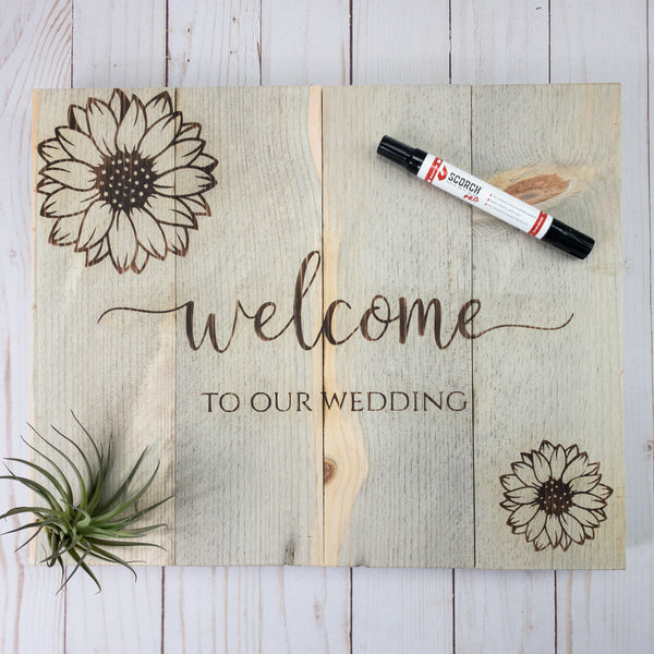 How to Wood Burn Your Own Wedding Sign