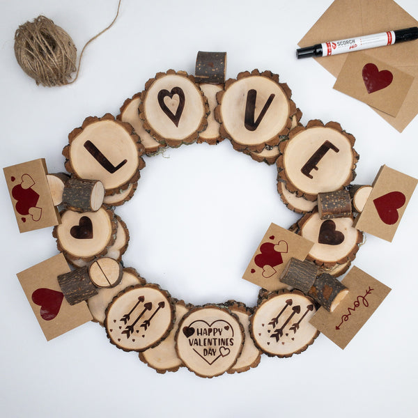 How to Make Your Own Wood Burned Wreath for Valentine's Day