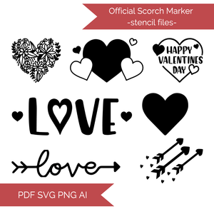 Valentine's Day Stencil Cut Files! 2021 [AI SVG PNG DXF]
