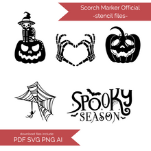Load image into Gallery viewer, Halloween Stencil Files! 2020 [AI SVG PNG DXF]