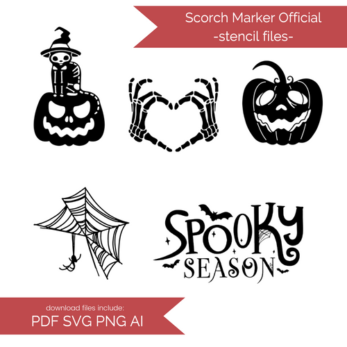 Halloween Stencil Files! 2020 [AI SVG PNG DXF]