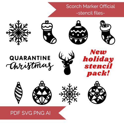 Christmas Stencil Files! 2020 [AI SVG PNG DXF]